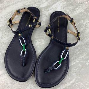 Tommy Hilfiger Blue Thong Sandals
